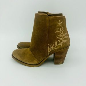 LUCKY BRAND Elenor Suede Leather Ankle Booties